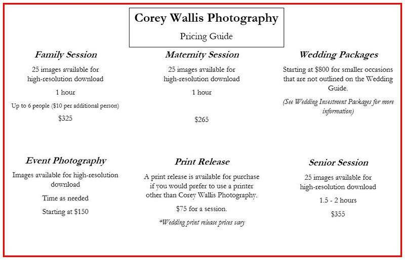 Corey Wallis Photography LLC | Investment
